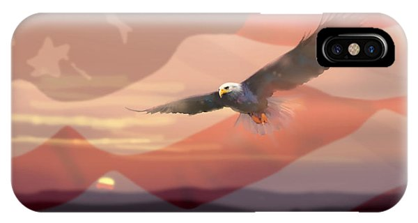 And The Eagle Flies IPhone Case