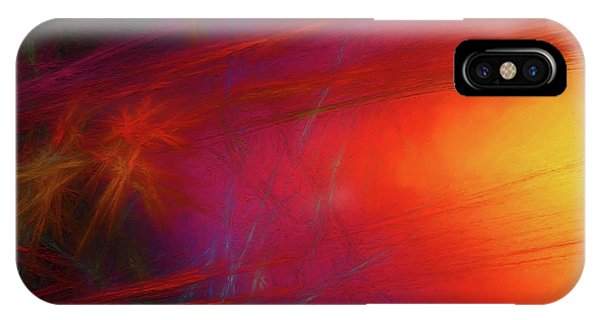 IPhone Case featuring the digital art Andee Design Abstract 21 2018 by Andee Design