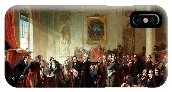 Trial iPhone Case - Andrew Jackson Before Judge Hall, New Orleans by Christian Schussele