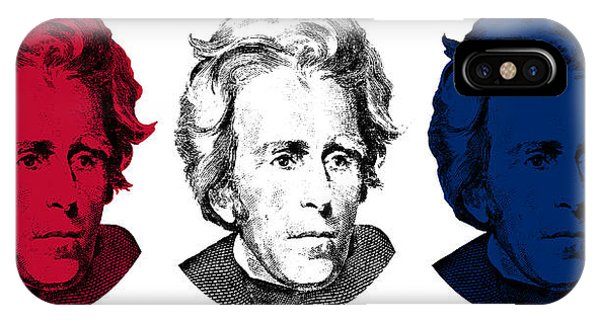 Andrew iPhone Case - Andrew Jackson Red White And Blue by War Is Hell Store