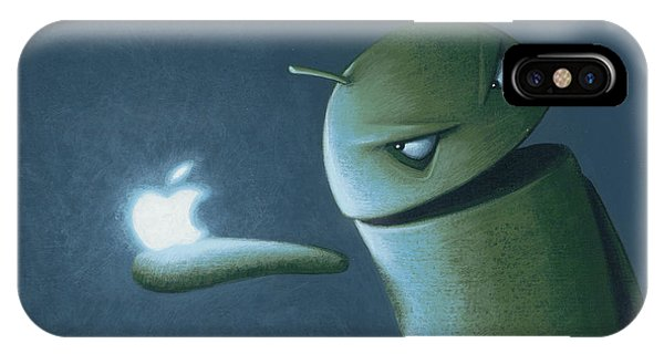 Logo iPhone Case - Android Vs Apple by Jasper Oostland