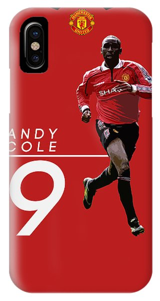 Wayne Rooney iPhone Case - Andy Cole by Semih Yurdabak