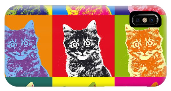 Andy Warhol Cat IPhone Case