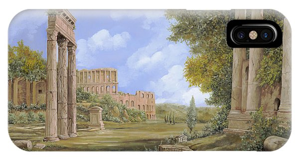 Temple iPhone Case - Anfiteatro Romano by Guido Borelli
