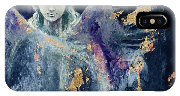 Haven iPhone Case - Angel 1 by Dorina Costras