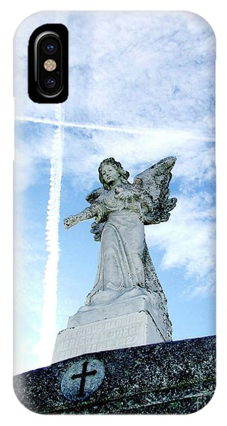 Angel And Crosses IPhone Case