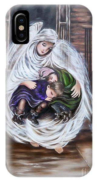 Flying Lamb Productions.        Angel And The Orphans IPhone Case