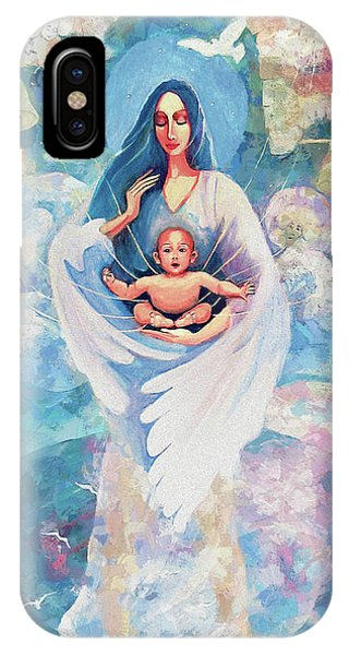 IPhone Case featuring the painting Angel Blessing by Eva Campbell