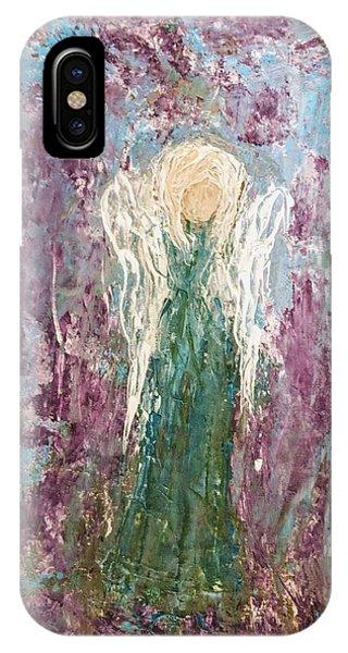 Angel Draped In Hydrangeas IPhone Case