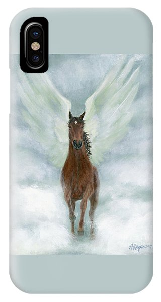 Angel Horse Running Free Across The Heavens IPhone Case
