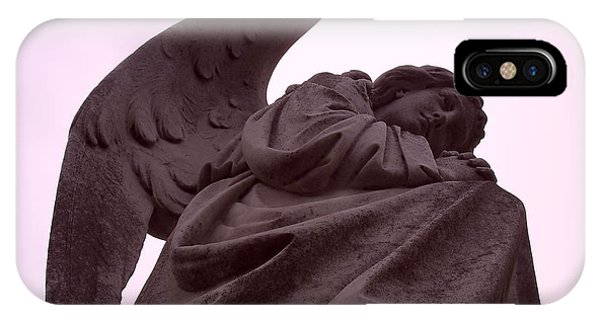 IPhone Case featuring the photograph Angel In Repose by Cynthia Marcopulos