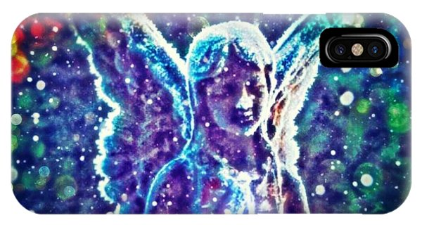 Angel In The Snow IPhone Case