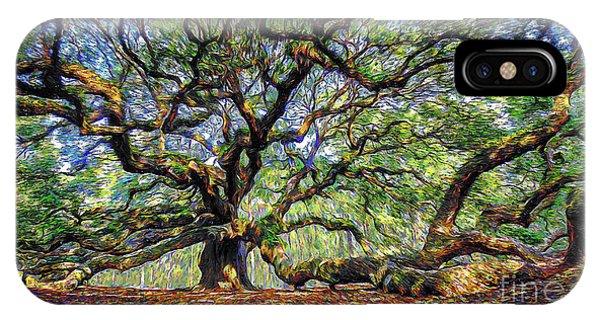 Angel Oak In Digital Oils IPhone Case