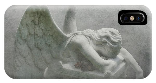 Cemetery iPhone Case - Angel Of Grief by Tom Mc Nemar