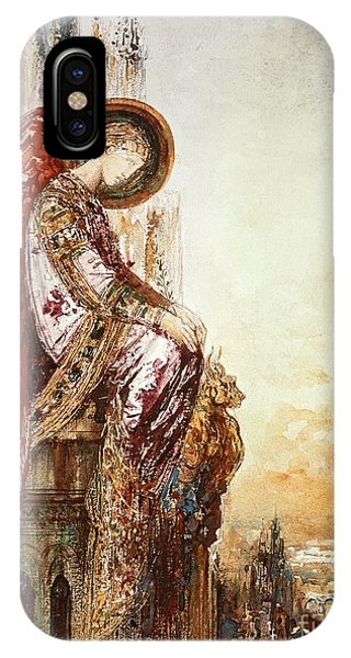 Christianity iPhone Case - Angel Traveller by Gustave Moreau