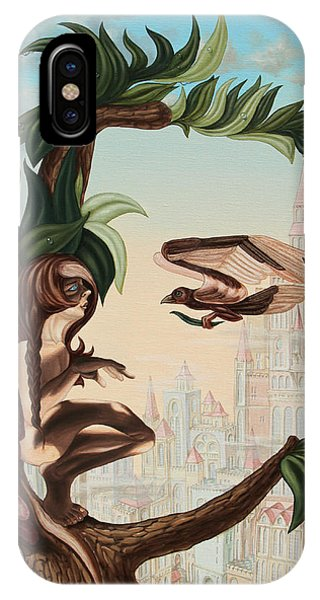 Angel, Watching The Reincarnation Of Marilyn Monroe On The Swinging City Towers IPhone Case