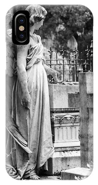 Angel With Cross Of Bonaventure Cemetery IPhone Case