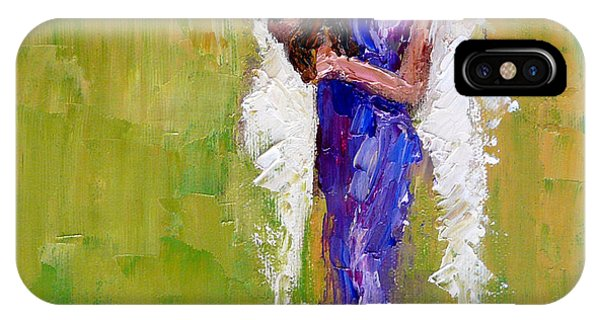 Angels iPhone Case - Angel With Dog by Judy Mackey
