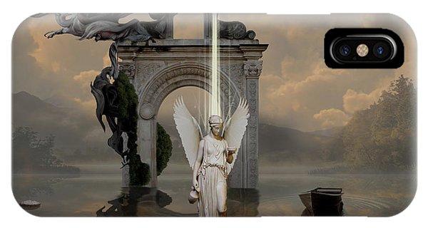 IPhone Case featuring the digital art Angel With Life Elixir by Alexa Szlavics