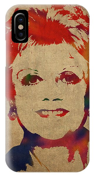 She iPhone Case - Angela Lansbury Watercolor Portrait by Design Turnpike