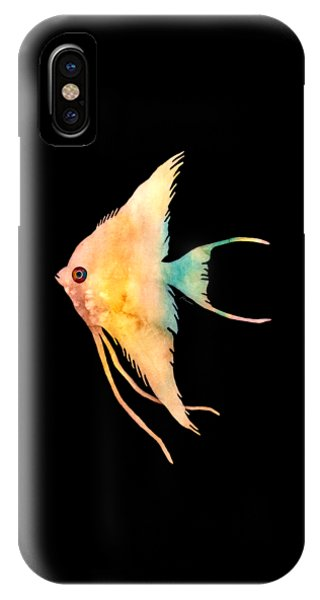 Zoology iPhone Case - Angelfish II - Solid Background by Hailey E Herrera