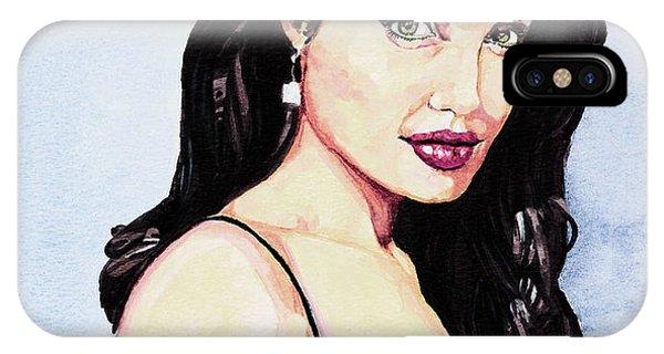 Angelina Jolie Portrait IPhone Case