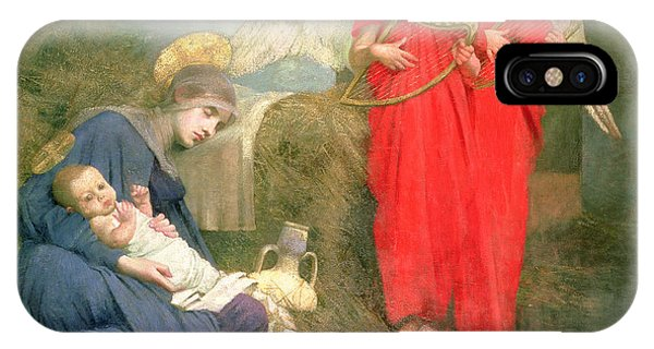 Musical iPhone Case - Angels Entertaining The Holy Child by Marianne Stokes