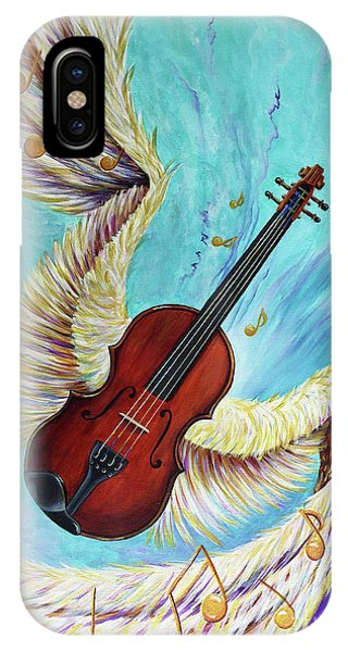IPhone Case featuring the painting Angel's Song by Nancy Cupp