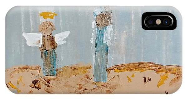 Angels Taking Care Of E IPhone Case
