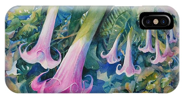 Angels Trumpets I IPhone Case