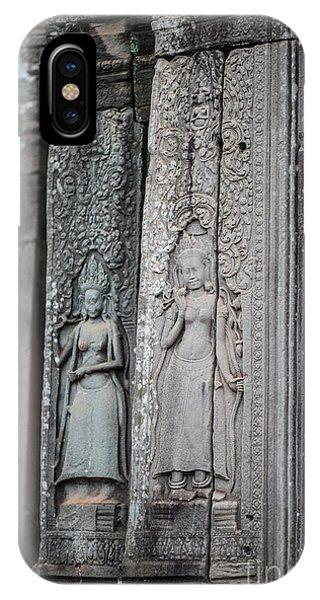 Cambodia iPhone Case - Angkor Apsaras Bas Relief by Mike Reid