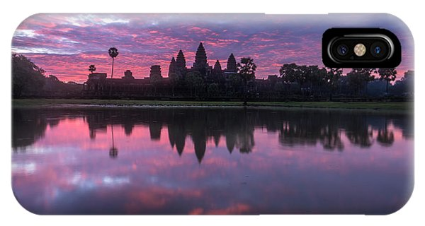Cambodia iPhone Case - Angkor Wat Sunrise by Mike Reid