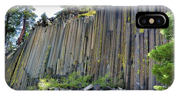 Angle View Desert Postpile IPhone Case
