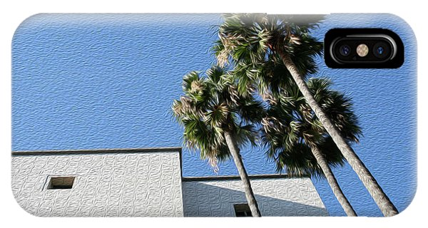Angles And 3 Palm Tress IPhone Case