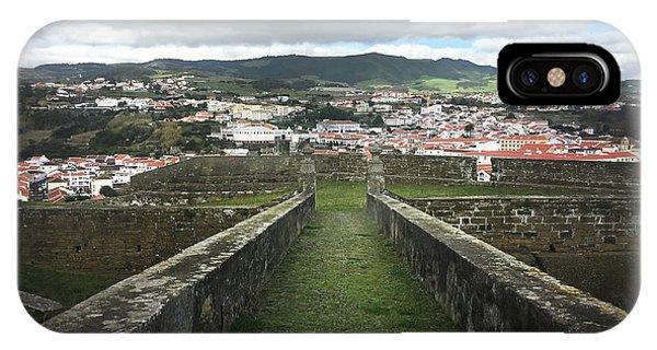 Angra Do Heroismo From The Fortress Of Sao Joao Baptista IPhone Case