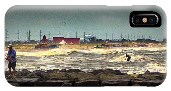 Angry Surf At Indian River Inlet IPhone Case