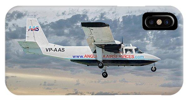 Islanders iPhone Case - Anguilla Air Services Britten-norman Bn-2a-26 Islander 114 by Smart Aviation