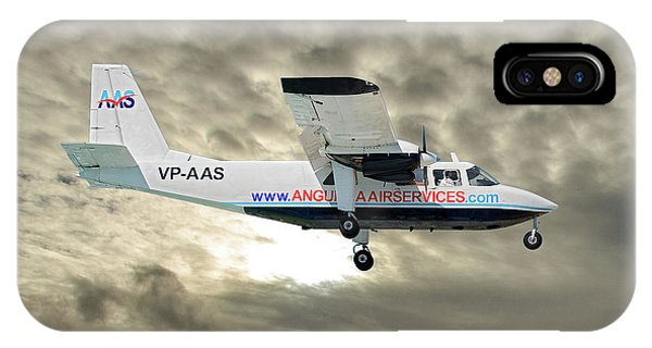 Islanders iPhone Case - Anguilla Air Services Britten-norman Bn-2a-26 Islander 115 by Smart Aviation