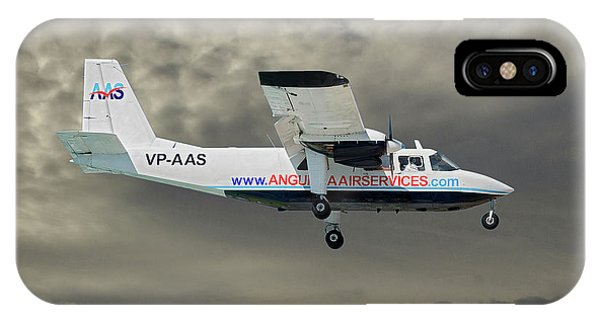 Islanders iPhone Case - Anguilla Air Services Britten-norman Bn-2a-26 Islander 116 by Smart Aviation