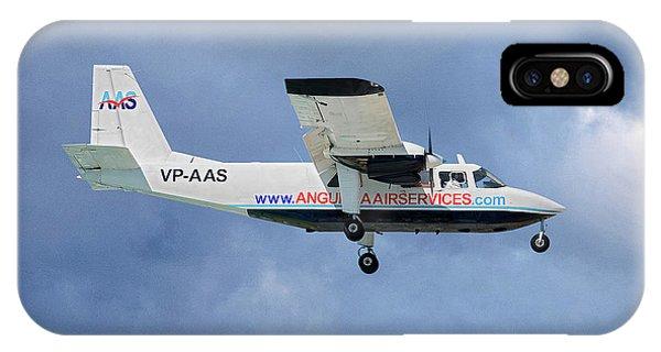 Islanders iPhone Case - Anguilla Air Services Britten-norman Bn-2a-26 Islander 117 by Smart Aviation