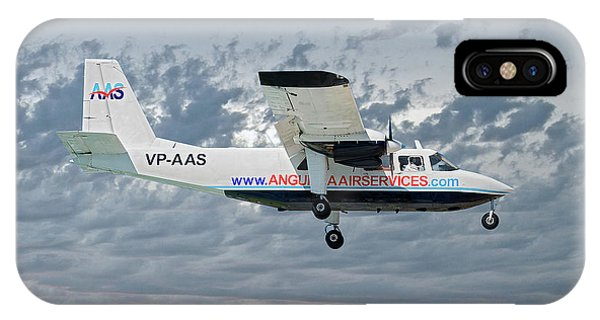 Islanders iPhone Case - Anguilla Air Services Britten-norman Bn-2a-26 Islander 113 by Smart Aviation