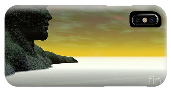 IPhone Case featuring the digital art Anguish by Sandra Bauser Digital Art