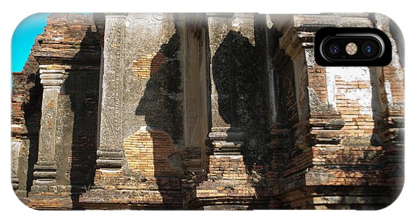 Angular Corner Of Temple In Burma With Sunny Blue Sky IPhone Case