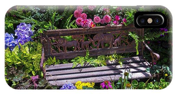 Ironwork iPhone Case - Animal Bench by Garry Gay