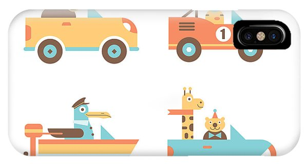 Truck iPhone Case - Animal Cars by Mitch Frey