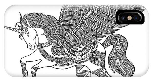 Unicorn iPhone Case - Animal Unicorn by Neeti Goswami
