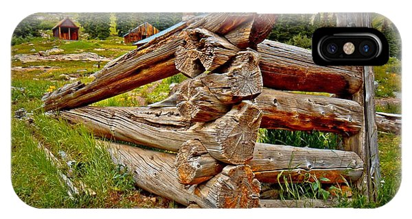 Anima iPhone Case - Animas Forks Log Cabin by Linda Unger