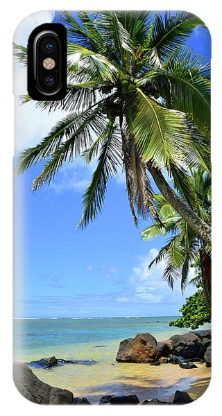 iPhone Case - Anini Beach Cove Kauai by Kathy Yates