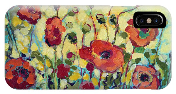 Poppies iPhone Case - Anitas Poppies by Jennifer Lommers