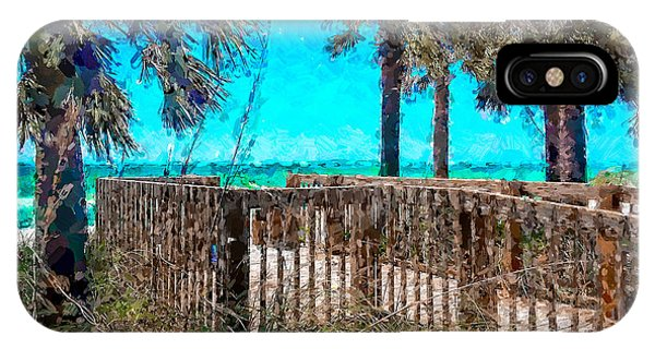 Anna Maria Boardwalk Access IPhone Case